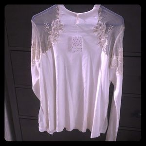 Free People ivory shirt